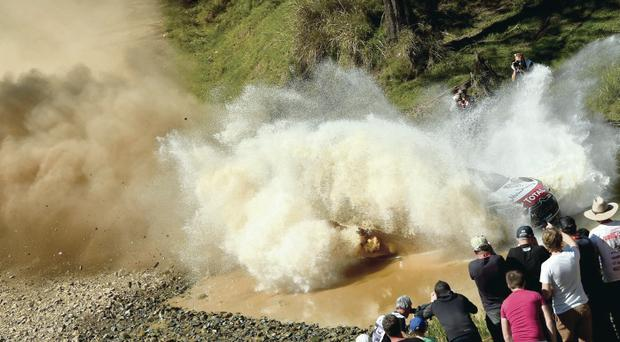 Dusting down: Kris Meeke and Paul Nagle hit trouble during Rally Australia, as podium hopes went up in smoke