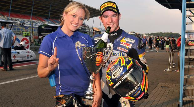 Mixed fortunes: Alastair Seeley, with fiance Danni, after win but next race was disappointing