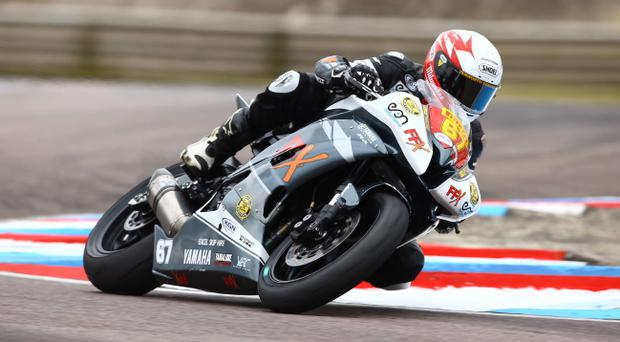 On the right track: Andy Reid has a real chance of clinching the Pirelli National Superstock 600cc title