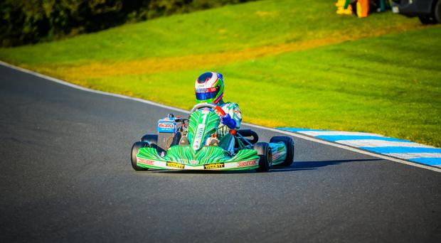 Making his mark: Daniel Harper was voted NIKA Driver of the Season after a glittering year on the track