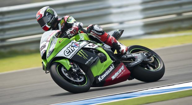 Full speed: Jonathan Rea has won three of the opening four races in his bid to claim the World Superbike crown