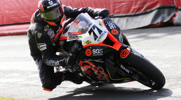Dungannon's Ryan Farquhar made a fairytale return to Superbike action
