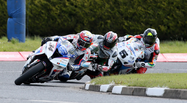 Lean machines: Seeley leads Hutchinson and Anstey in Superbike victory