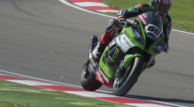 Top ranking: Jonathan Rea stretched his lead in the World Superbike Championship at Donington Park