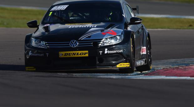 Quick to impress: Colin Turkington of Team BMR in action at Donington Park in March