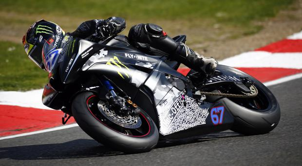 Back on track: Andy Reid returns to the British Supersport Championship after six weeks off
