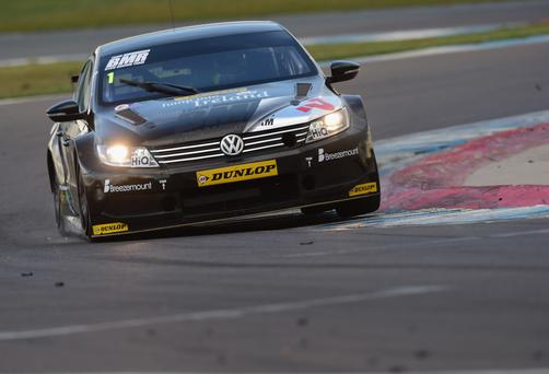 Valuable pointer: Colin Turkington missed out on a win but took points in his Team BMR Volkswagen at Croft yesterday