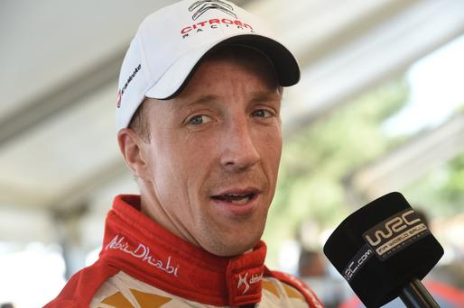 Struggle: Kris Meeke lies in eighth place
