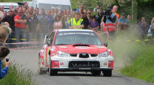 Unique chance: Garry Jennings is on the right track to securing three wins in a row at the Todds Leap Ulster Rally
