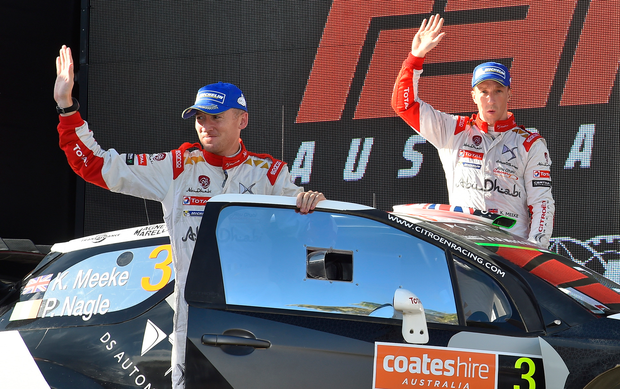 Decision to make: Kris Meeke (right) has an unclear future
