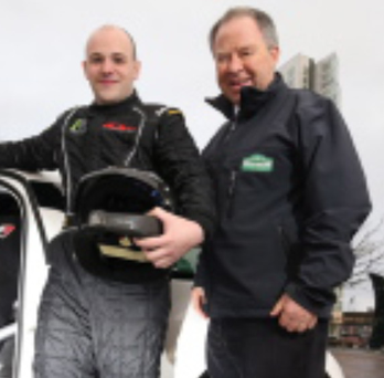 Gearing up: driver Jonny Greer and Circuit director Bobby Willis