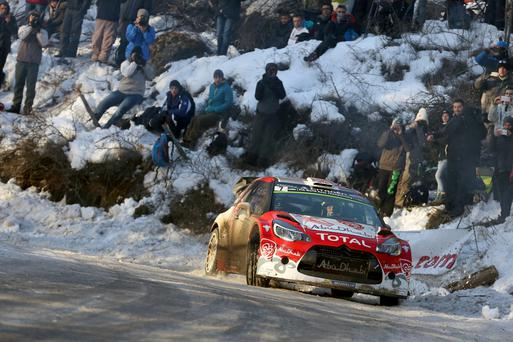 Frosty reception: Kris Meeke admitted some stages in Sweden could be treacherous