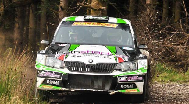 Forest champions: Desi Henry and co-driver Liam Moynihan in the Skoda