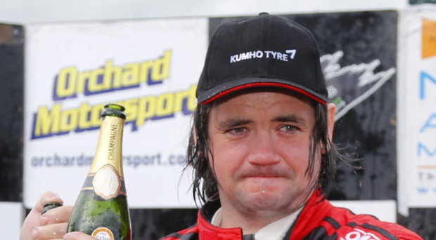 Glory boy: Garry Jennings won last year's Lurgan Park Rally