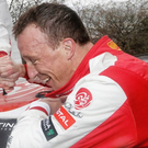 Lucky boy: Kris Meeke hails his astonishing victory in Mexico