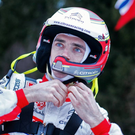 Edged out: Craig Breen missed fourth by a 1/10th of a second