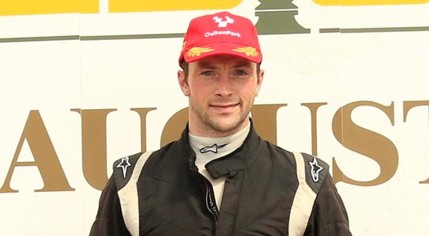 Up for Cup: Darwin Smith with famous Oulton Park Gold Cup