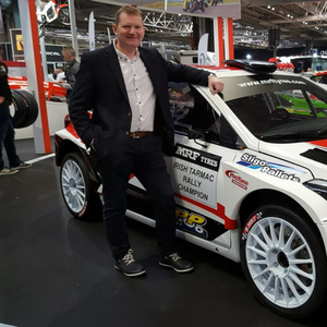 On show: Eugene Donnelly and the new Hyundai at the Autosport International Show at Birmingham's NEC