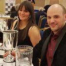 Honoured: Jonny Greer and his co-driver Kirsty Riddick