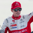 Top five: Craig Breen finished in fifth place despite snow