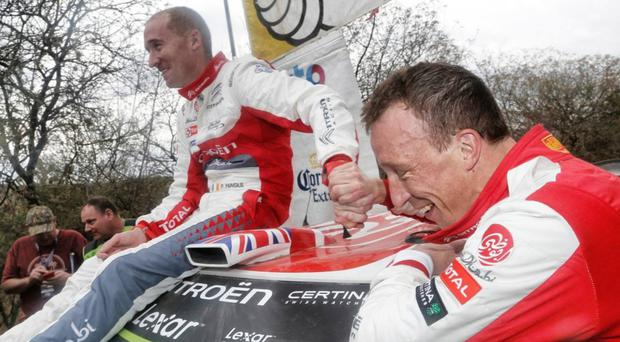 Close shave: Meeke and Nagle after their Mexican escape