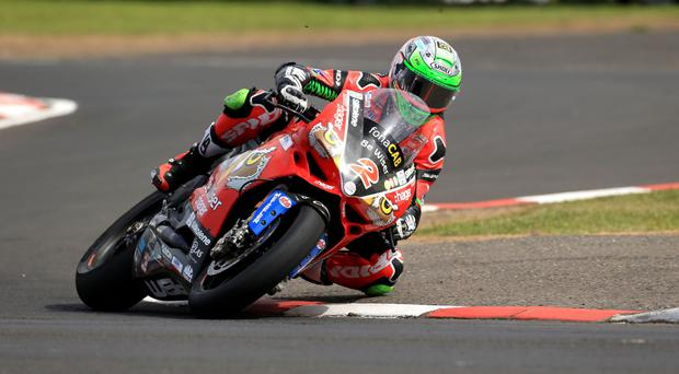 Double up: Glenn Irwin secured two fine second place finishes yesterday at Brands Hatch