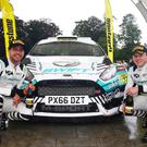 Mine's a treble: Matt Edwards and co-driver Darren Garrod made it three wins in a row with their Ulster Rally victory
