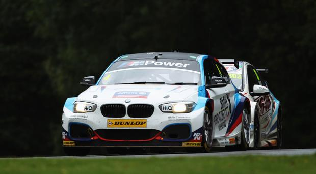 Splashing success: Colin Turkington survived the Scottish rain to race ahead in the British Touring Car Championship