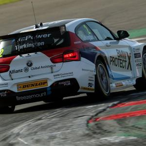 Still in front: Colin Turkington heads to Brands Hatch with a 34-point lead in the British Touring Car Championship after battling performances in the penultimate rounds at Silverstone