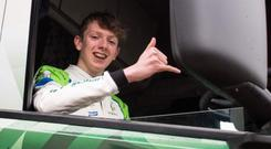 Trucking along: teenager Jack Young is bound for France after this weekend's races at Croft