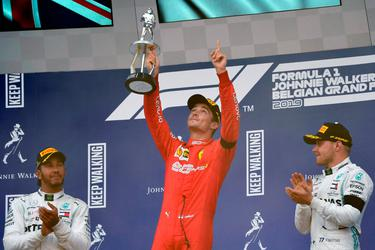 Leclerc claims first career triumph on emotional day