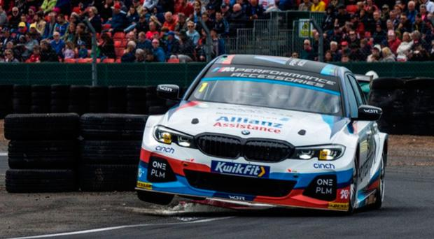 Finish line: Colin Turkington chases a fourth British Touring title for BMW on Sunday