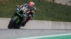 So close: Jonathan Rea was just edged into second spot in Argentina