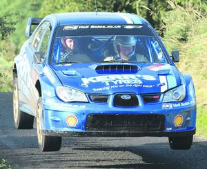.©Press Eye Ltd Northern Ireland -17th August   2012 Derek McGarrity and James Mckee  pictured at the Knockboy stage of the Todds leap Ulster Rally Mandatory Credit - Picture by Stephen Hamilton/Presseye.com