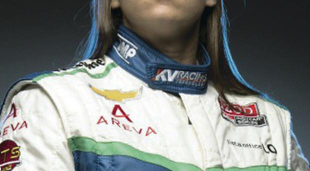 New deal: Simona De Silvestro is thrilled with her big chance