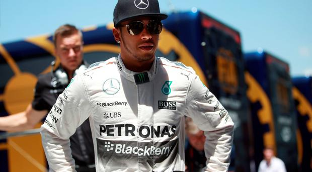 Out in front: Lewis Hamilton