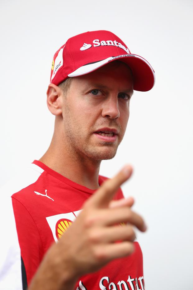 Burning rubber: Sebastian Vettel criticised Pirelli's tyres