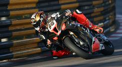 On the move: Peter Hickman on the Smiths Racing BMW