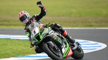 Setting off: Jonathan Rea at Phillip Island before the coronavirus-enforced lockdown