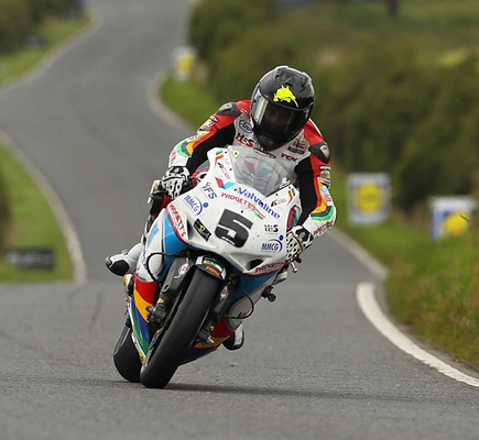 Leading the charge: Bruce Anstey is among the front runners to taste glory at the Ulster Grand Prix