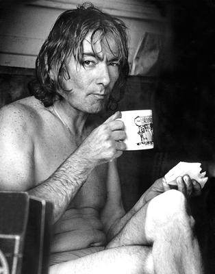 Just Joey: The man himself having a well-earned cuppa