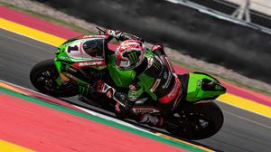 Still fighting: Jonathan Rea won't give up his world title despite falling 30 points behind. Credit: Graeme Brown