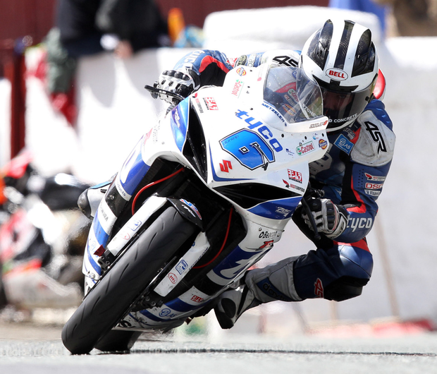 High flyer: William Dunlop claimed victory on Yamaha