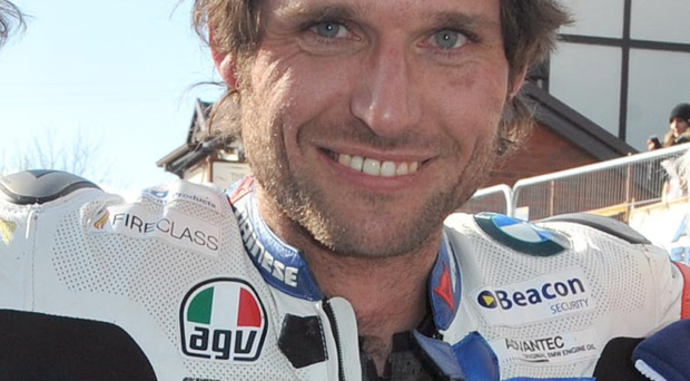In front: Guy Martin won senior race
