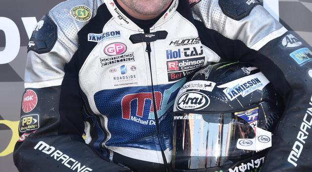 King of the road: Michael Dunlop set the pace in practice