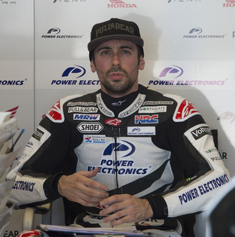 Cap fits: Eugene Laverty is eyeing Silverstone success