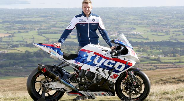 Race ace: Ian Hutchinson is hoping to add to his 11 TT career wins with new team Tyco BMW