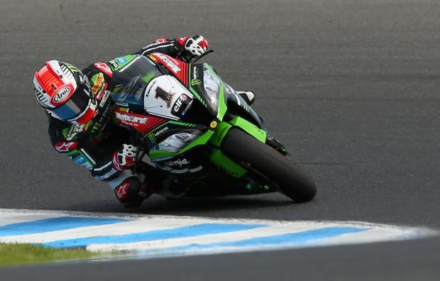 On track: Jonathan Rea clinch second and third place finishes