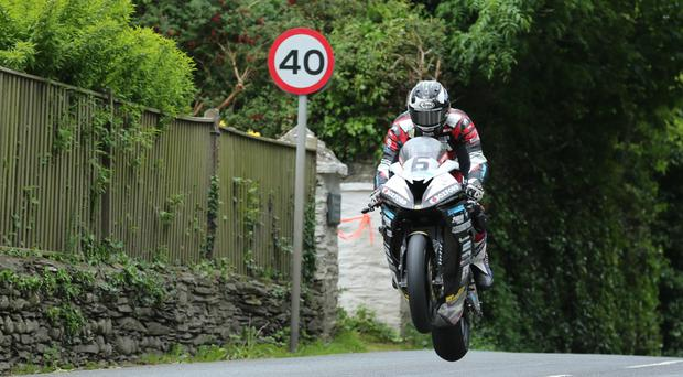 Record holder: Michael Dunlop claims he can go 134mp h in today's Senior TT