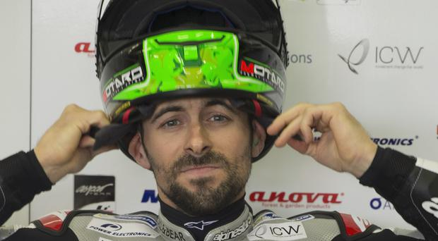Shunted: Eugene Laverty was forced off Austrian track